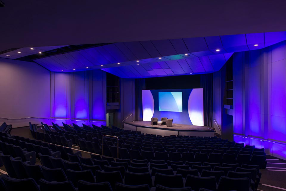 Olympia London Conference Centre auditorium seats up to 438 delegates