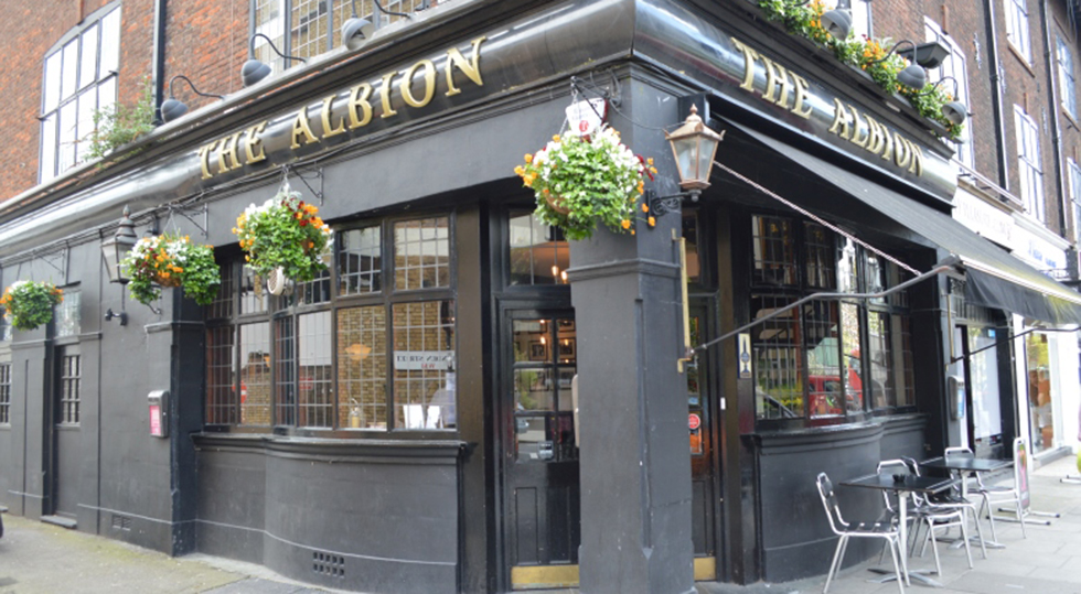 Exterior of The Albion