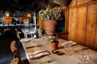 Maggie Jones's is a rustic, cosy eatery close to the venues at Olympia London.