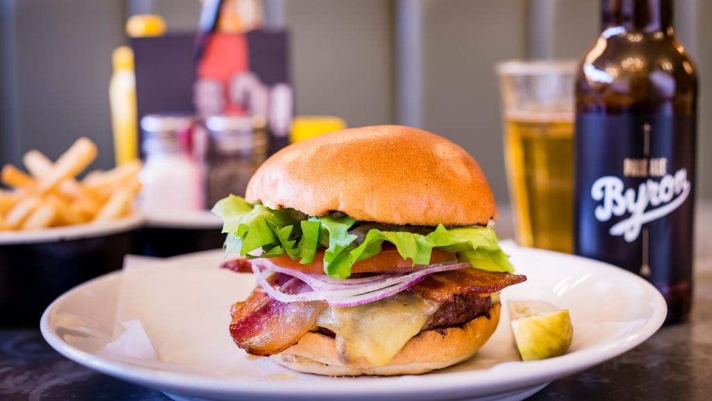 Proper hamburgers made from carefully-sourced British beef, freshly prepared and cooked to order, to eat in or to take away.