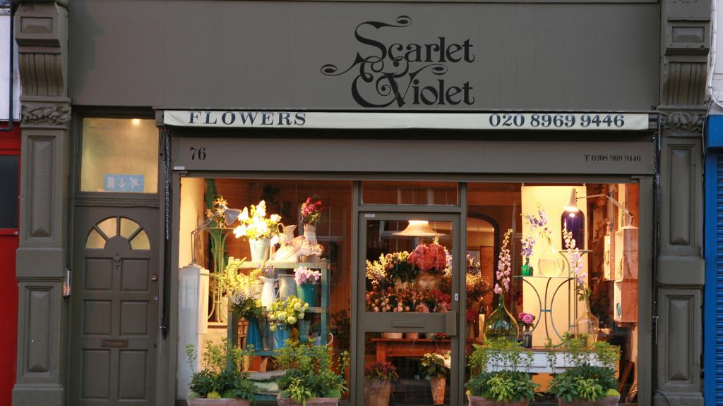 Scarlet and Violet is a beautiful florist near to Olympia London