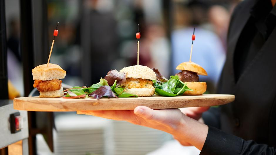 Our caters can provide a variety of food and drink options for your event
