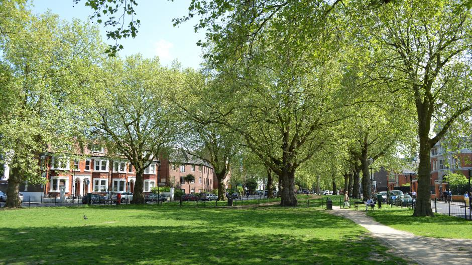 Brook Green is a family friendly park near Olympia London
