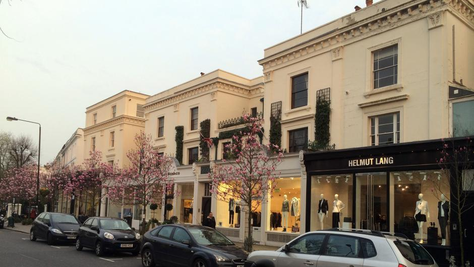 Westbourne Grove is a great place to explore for shopping near Olympia London
