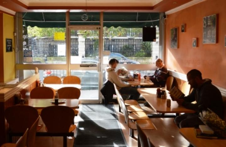George's Café in Blythe Road is just behind Olympia and serves all you'd expect from a classic British café.