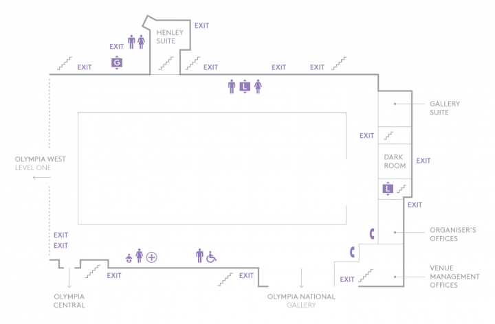 Floorplan of Olympia Grand Gallery Level