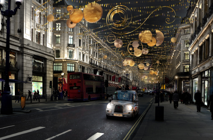 Jo Malone's Regent Street light installation, central London