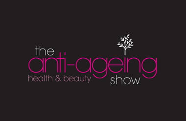 The logo for The Anti-Ageing Health & Beauty Show which takes place at Olympia National event and exhibition venue in central London