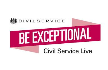 The logo for Civil Service Live which takes place at Olympia Grand event venue in London.