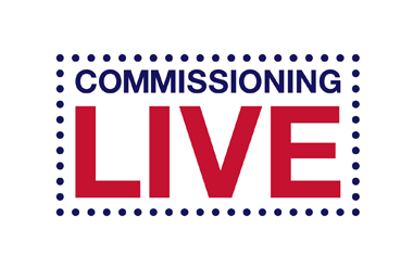 The Logo for Commissioning Live which is taking place at Olympia Conference Centre
