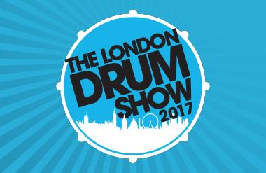 The logo for London Drum Show, taking place at Olympia London