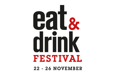 The logo for Eat & Drink Festival, taking place at Olympia London
