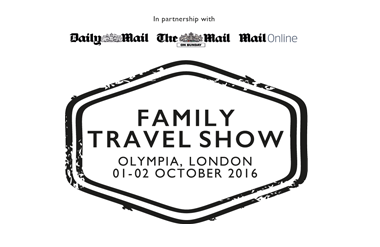 The logo for Family Travel Show, taking place at Olympia Conference Centre