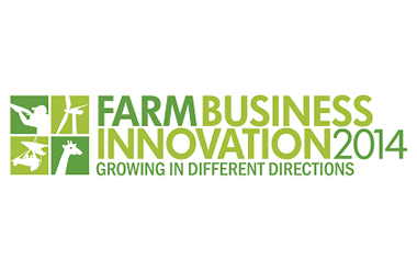 The logo for Farm Business Innovation which takes place at Olympia National event and exhibition venue in central London