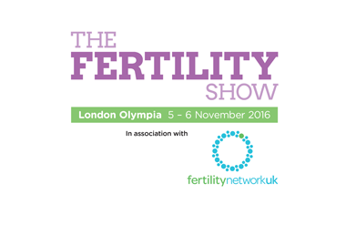 The logo for The Fertility Show, taking place in Olympia Central