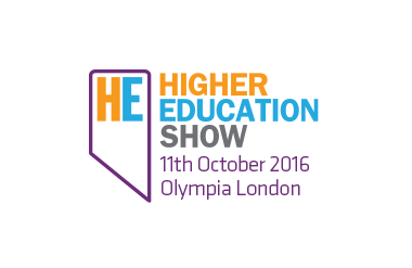 Logo for Higher Education Show taking place at Olympia Central