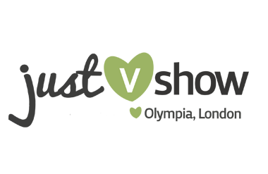 The logo for Just V Show taking place at Olympia Grand