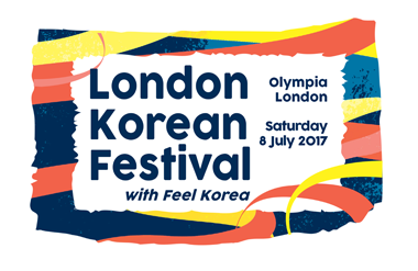 The logo for London Korean Festival, taking place at Olympia London