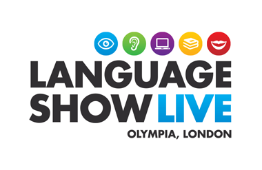 The logo for Language Show Live which takes place at Olympia Central event and exhibition venue in central London