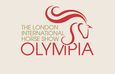 The logo for Olympia, The London International Horse Show which takes place at Olympia Grand event and exhibition venue in central London
