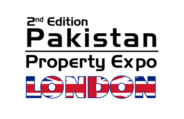 The logo for Pakistan Property Expo, taking place at Olympia London