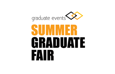 The logo for Summer Graduate Fair, taking place in Olympia Central