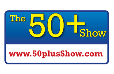 The logo for The 50+ Show, taking place at Olympia National