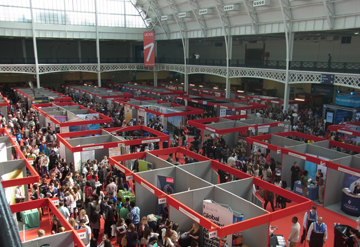 UCAS Higher Education Convention brings together universities and colleges within the UCAS scheme and students in Olympia National exhibition venue in London.