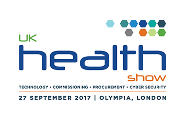 Logo for UK Health Show taking place at Olympia London