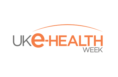 Logo for UK eHealth Week taking place at Olympia West