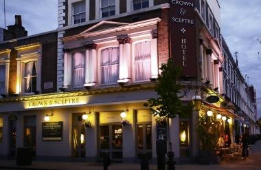 The Crown & Sceptre is a large, quality gastropub and hotel close the venues at Olympia London.