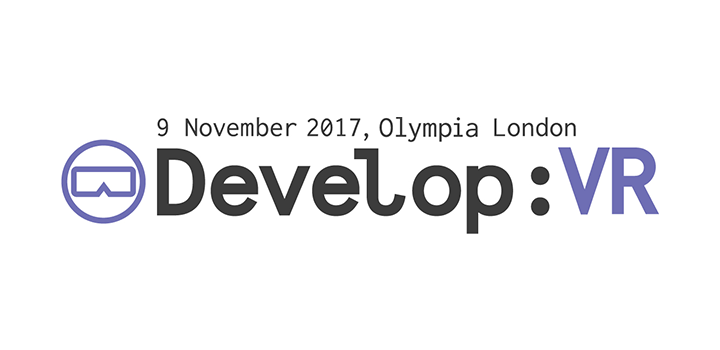 Logo for Develop:VR taking place at Olympia London