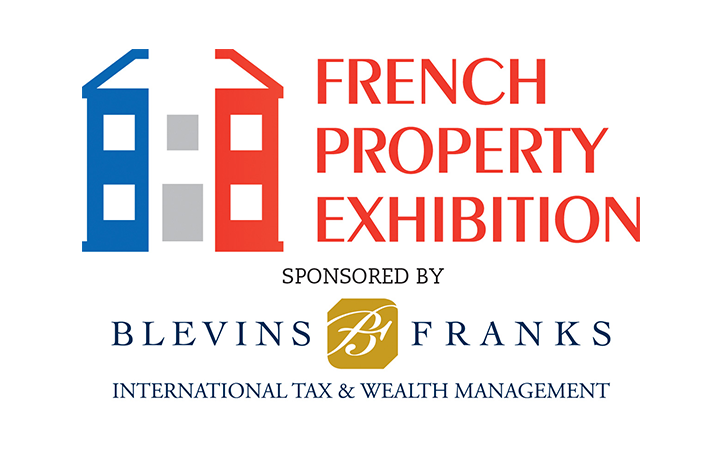 The French Property Exhibition logo, taking place at Olympia London