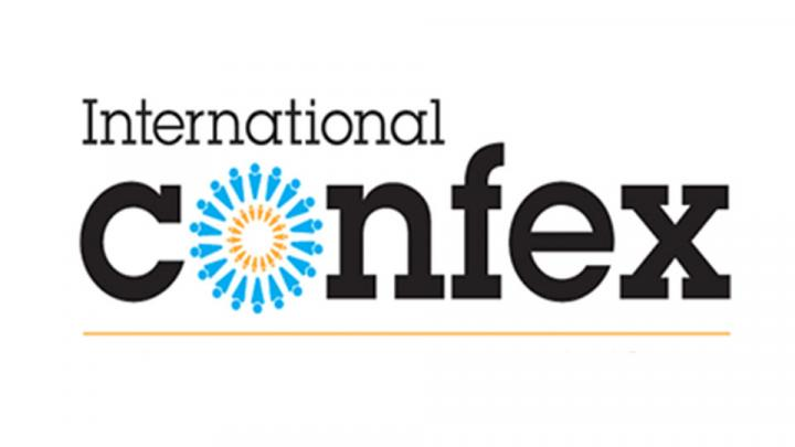 The logo for Confex, taking place at Olympia London
