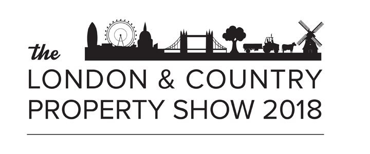 The logo for The London & Country Property Show, taking place at Olympia London