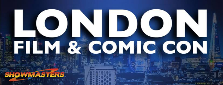 The logo for the comic con event taking place at Olympia London