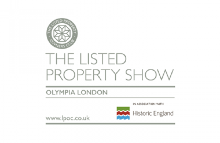 The logo for Listed Property Show taking place at Olympia London