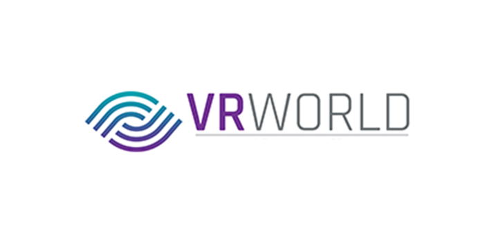 Logo for VR World taking place at Olympia London