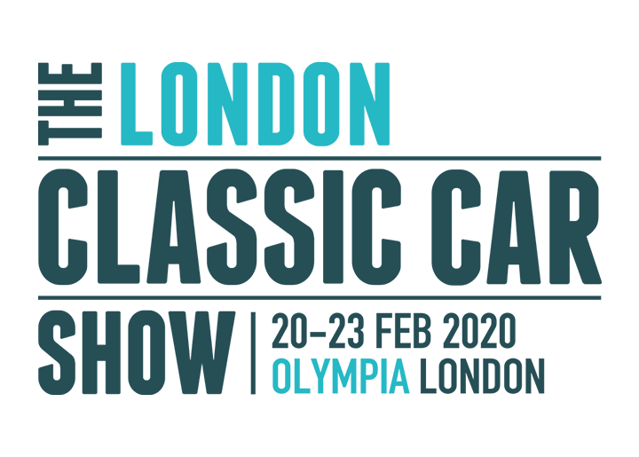 The logo for the London Classic Car Show