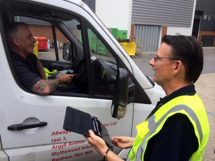 Vehicle management system in operation at Olympia London