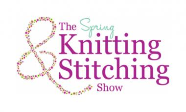 The logo for Spring Knitting & Stitching Show, held at Olympia London
